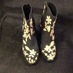 Free People Barclays Ankle Boot 7 black/cream